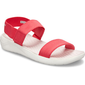 Crocs LiteRide Sandals Damen poppy/white